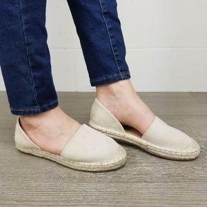 Shoes - Tan Vegan Suede Flat Slip On Loafer Espadrille -J